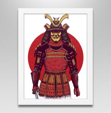 Броня самурая, Постер в белой раме