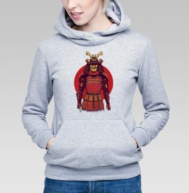 Броня самурая, Толстовка Женская серый меланж 340гр, теплая