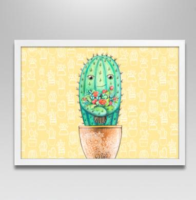 Кактус с цветами - Постеры