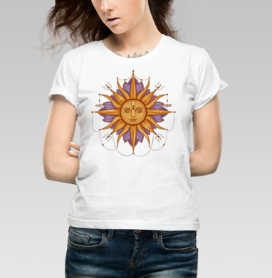 Солнце Сурья - Купить детские футболки с солнцем в Москве, цена детских футболок с солнцем с прикольными принтами - магазин дизайнерской одежды MaryJane