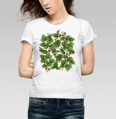 Спелая клубничка  - Купить детские футболки паттерн в Москве, цена детских футболок с паттерном  с прикольными принтами - магазин дизайнерской одежды MaryJane