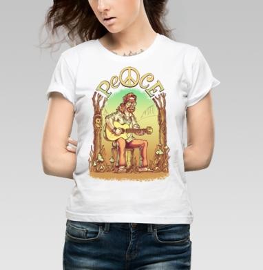 Старый лесной хиппи - Купить детские футболки с деревьями в Москве, цена детских футболок с деревьями  с прикольными принтами - магазин дизайнерской одежды MaryJane