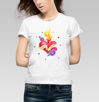 Тру лав - Купить детские футболки с роами в Москве, цена детских футболок с розой с прикольными принтами - магазин дизайнерской одежды MaryJane