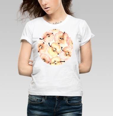 Яблоки  - Купить детские футболки Текстуры в Москве, цена детских футболок Текстуры с прикольными принтами - магазин дизайнерской одежды MaryJane