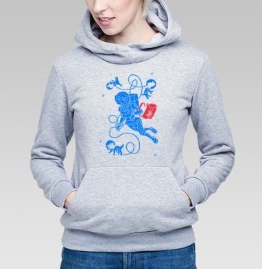 Невесомость - Купить детские толстовки с космосом в Москве, цена детских толстовок с космосом  с прикольными принтами - магазин дизайнерской одежды MaryJane