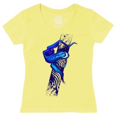 Футболка женская желтая - Неоновые сны