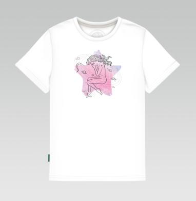 Детская футболка белая - Упавшая звезда
