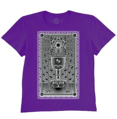 Футболка мужская темно-фиолетовая - Туз чаш