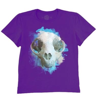 Футболка мужская темно-фиолетовая - Я люблю кошек.