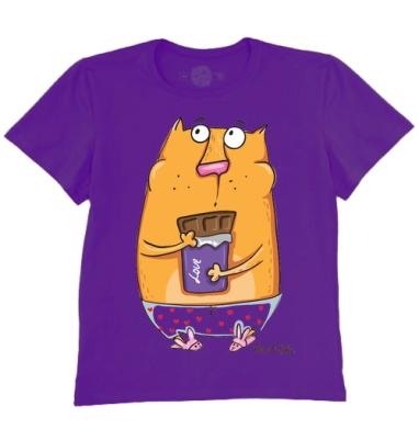Футболка мужская темно-фиолетовая - Запей коньяком
