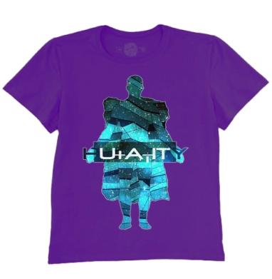 Футболка мужская темно-фиолетовая - Человечество