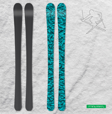 Акулы - Наклейки на лыжи