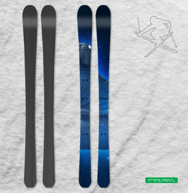 Космический Ждун - Наклейки на лыжи