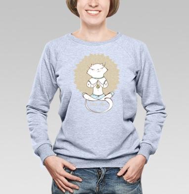 Йога котэ  - Купить детские свитшоты с любовью в Москве, цена детских свитшотов с любовью  с прикольными принтами - магазин дизайнерской одежды MaryJane