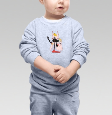 Кексик, Cвитшот Детский серый меланж