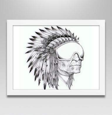 Индеец сноубордист - Постеры, индеец, Популярные