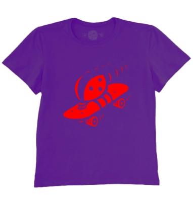 Футболка мужская темно-фиолетовая - Божъя коровка
