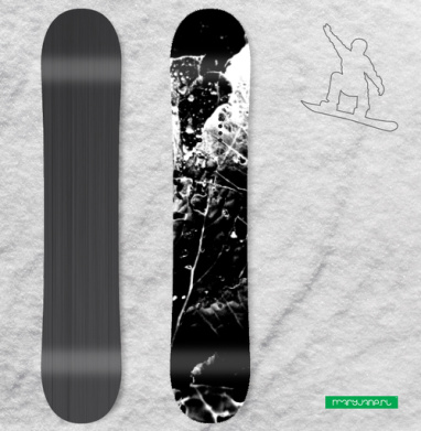 Растительное - Виниловые наклейки на сноуборд купить с доставкой. Воронеж