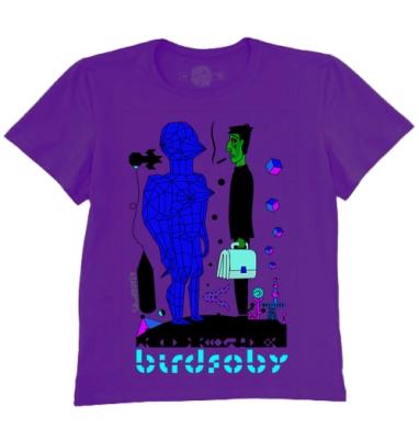 Футболка мужская темно-фиолетовая - BiRdFoBy