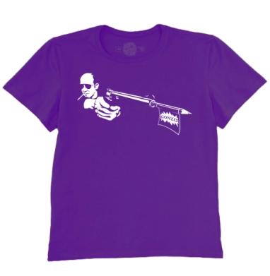 Футболка мужская темно-фиолетовая - Gonzo
