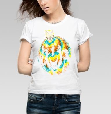 МузА - Футболка женская белая 160гр, психоделика, Популярные