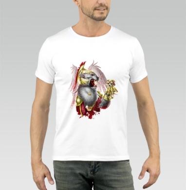 Крылатый лев - Купить мужские футболки с крыльями в Москве, цена мужских футболок с крыльями с прикольными принтами - магазин дизайнерской одежды MaryJane