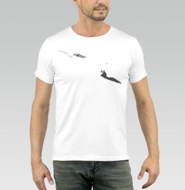 Футболка мужская белая 160гр - Hide_away