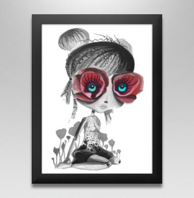 Цветов, принцесса - Постер в чёрной раме
