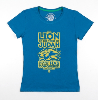 Футболка женская волна 200гр - Лев от колена Иудина