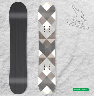 Симметрия в коричневых тонах - Наклейки на доски - сноуборд, скейтборд, лыжи, кайтсерфинг, вэйк, серф
