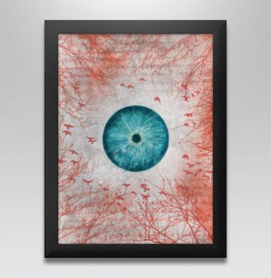Воспаленное око планеты - Постер в чёрной раме