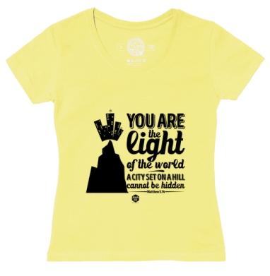 Футболка женская желтая - Вы свет миру