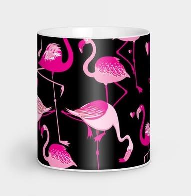 Узор розовые фламинго - узор, Новинки