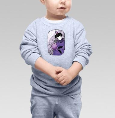 Сиреневый шар  - Купить детские свитшоты с деревьями в Москве, цена детских свитшотов с деревьями  с прикольными принтами - магазин дизайнерской одежды MaryJane