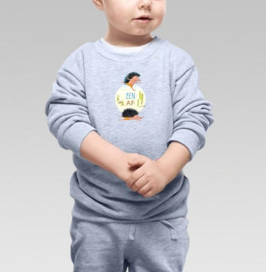 Дзэн АФ - Cвитшот Детский серый меланж, Новинки