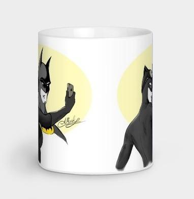 Бэтмен и Кошка - Кружки с логотипом
