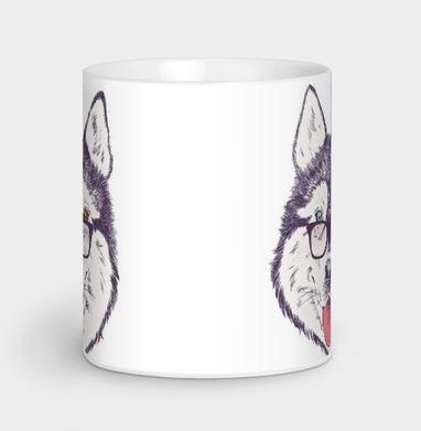 Пёс нацепил очки на нос - иллюстация, Новинки