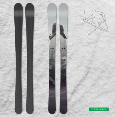 Кристальная скала - Наклейки на лыжи