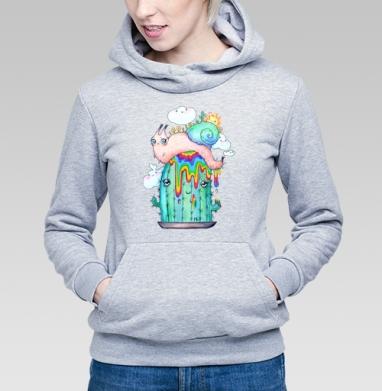 Улитка на кактусе - Купить детские толстовки с насекомыми в Москве, цена детских толстовок с насекомыми  с прикольными принтами - магазин дизайнерской одежды MaryJane