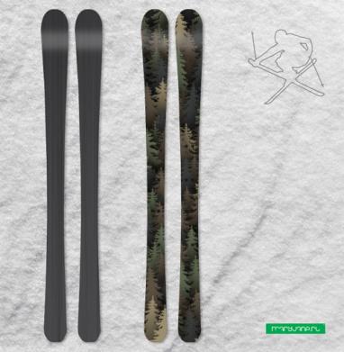 Лесной камуфляж - Наклейки на лыжи