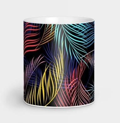 Разноцветные листья пальмы - природа, Новинки