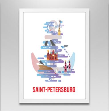Санкт-Петербург - Постеры, мужские, Популярные