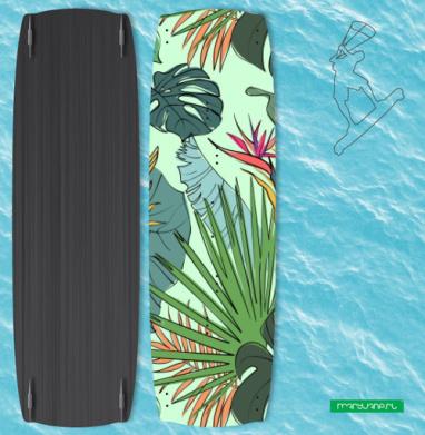 Листья цветы тропики - Наклейки на кайтсерфинг/вэйк