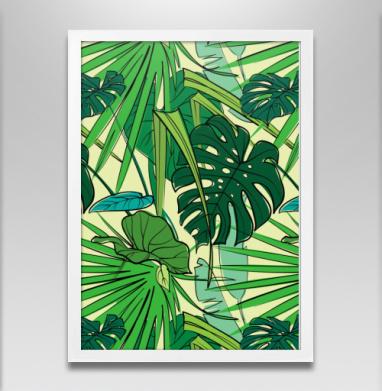 Листья тропики - Постеры, лето, Популярные