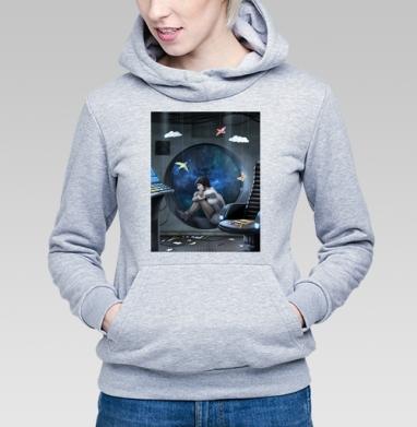 Долгий полёт - Купить детские толстовки с космосом в Москве, цена детских толстовок с космосом  с прикольными принтами - магазин дизайнерской одежды MaryJane