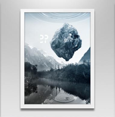 Будущее  - Постер в белой раме, горы