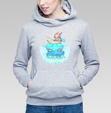 Рыбалка на медузе - Купить детские толстовки со сказками в Москве, цена детских толстовок со сказками  с прикольными принтами - магазин дизайнерской одежды MaryJane
