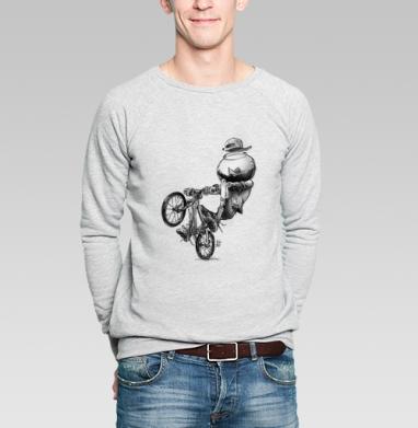 МТБ - Купить мужские свитшоты с велосипедом в Москве, цена мужских свитшотов с велосипедом с прикольными принтами - магазин дизайнерской одежды MaryJane