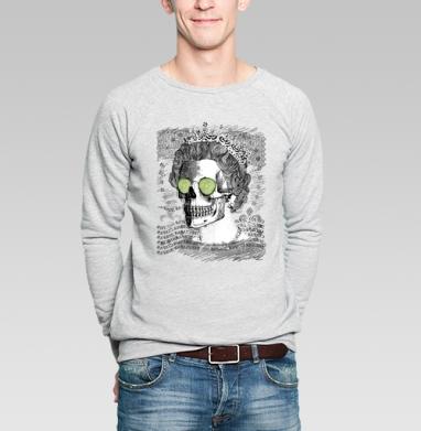 Череп в короне - Купить мужские свитшоты винтажные в Москве, цена мужских свитшотов винтажных  с прикольными принтами - магазин дизайнерской одежды MaryJane
