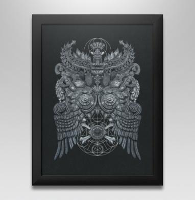 Великая Сова, Постер в чёрной раме